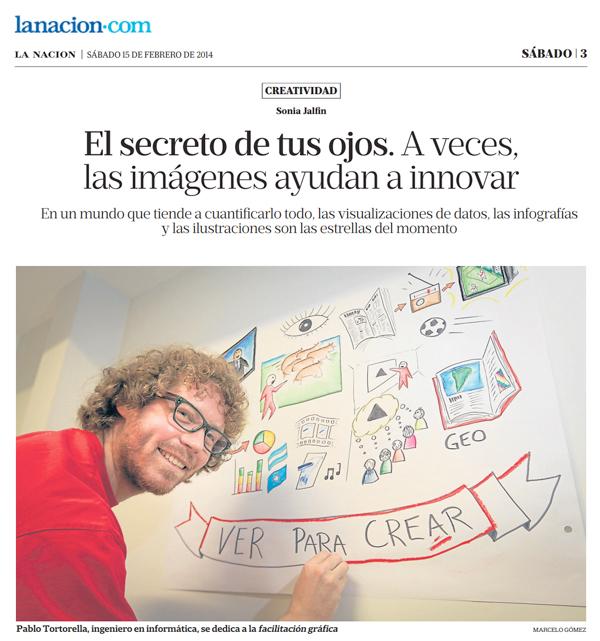 Pablo Tortorella, ingeniero en informática, se dedica a la facilitación gráfica. Foto: Marcelo Gómez